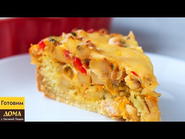 Пирог с картофелем и курицей в духовке