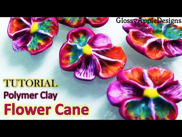 Polymer Clay Pansy Inspired Flower Cane Tutorial || Maive Ferrando