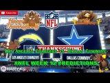 Los Angeles Chargers vs. Dallas Cowboys  #NFL WEEK 12  Predictions Madden 18