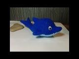Дельфин, ч.1.  Dolphin, р.1. Игрушки крючком.