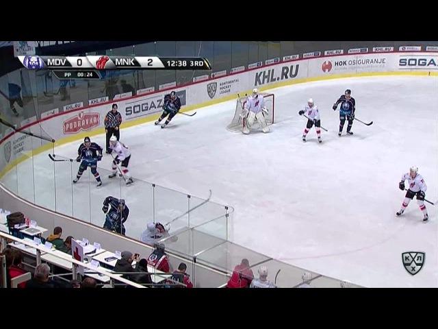 Моменты из матчей КХЛ сезона 16/17 • Гол. 1:2. Безина Горан (Медвешчак) сокращает разрыв в счете 30.11