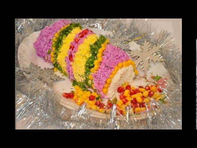 Салат новогодняя хлопушка рецепт с фото