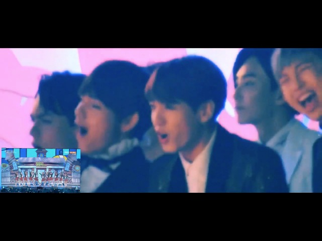 [HD FANCAM] 161119 BTS Reaction to iOi Very Very Very