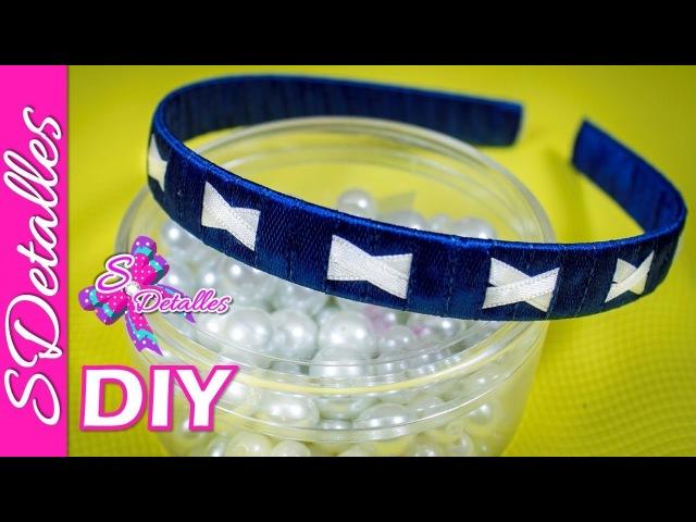 Como hacer Cintillos o Diademas Tejido de Diadema o Cintillo 4 Video 112 SDetalles DIY