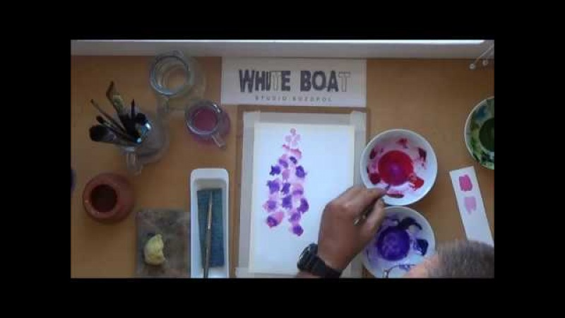 Getting loose painting foxgloves in watercolour