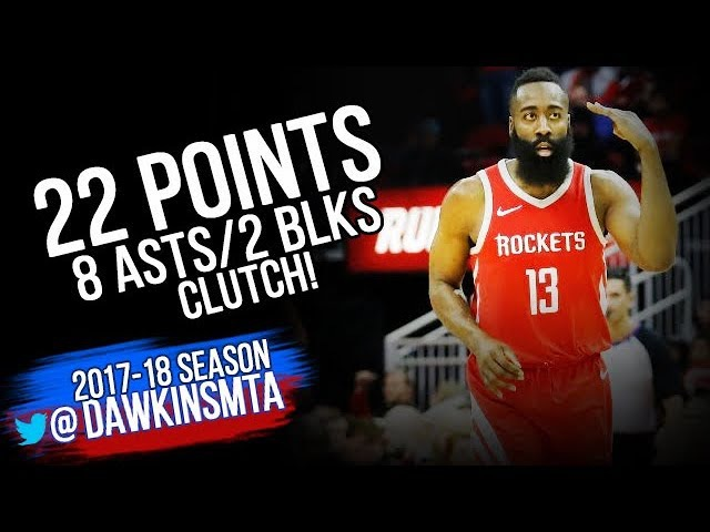 James HarDen Full Highlights 2018.01.20 vs Warriors - 22 Pts, 8 Asts, 2 Blks, CLUTCH!