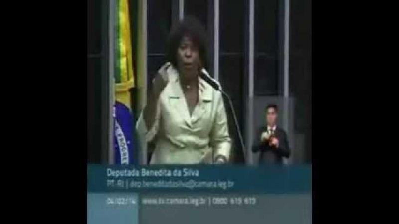 Deputada Benedita da Silva defende bandido e Bolsonaro manda ela adotar os vagabundos fora da lei