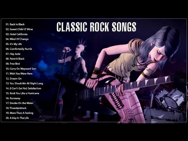 Top 100 Best Classic Rock Songs Of All Time || Great Classic Bands Rock 70's 80's 90's