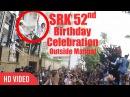 Shahrukh Khan 52nd Birthday Video Shahrukh Khan With AbRam Khan Outside Mannat SRK Birthday 2017