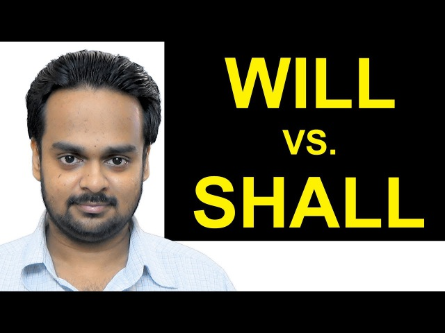 WILL vs. SHALL - What's the Difference? - Basic English Grammar