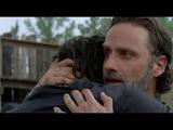 The Walking Dead 7x08 Ending Group Reunites Rick &amp Daryl Hug