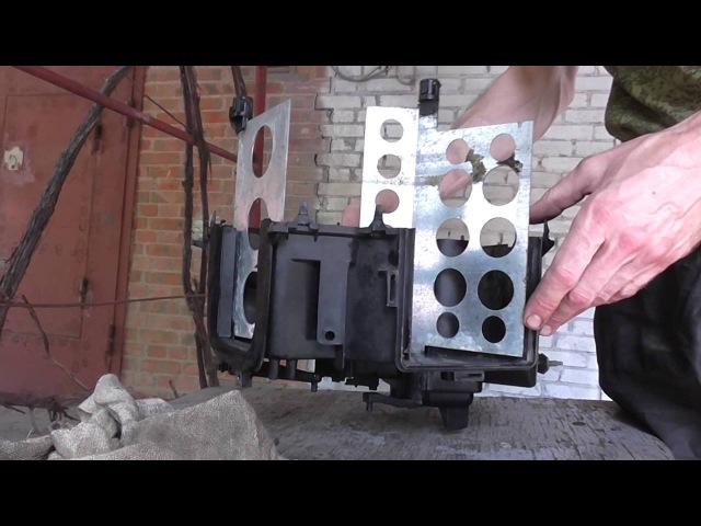 Ремонт печки VW PASSAT B3 с заменой радиатора