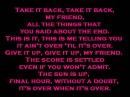 Falling In Reverse-Its Over When Its Over with lyrics