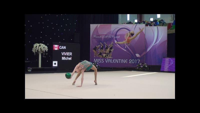 Vivier Michel (CAN) - Ball ♡ Miss Valentine 2017 | RG Junior individual (non FIG)