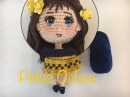 Como tejer cabeza muñeca Romina By Petus TERCERA PARTE