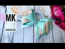 Небольшие бантики из репса Мк Канзаши Алена Хорошилова tutorial ribbon bows laço de fitas diy