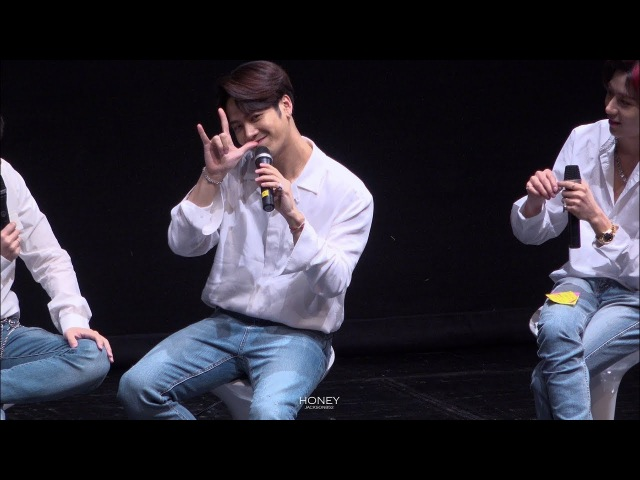 [FANCAM] 180317 미니팬미팅 look dance break sausage - JACKSON (잭슨직캠)