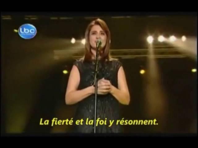 Chanteuse libanaise (chrétienne ) rend hommage au Hezbollah PALESTINE LIBRE