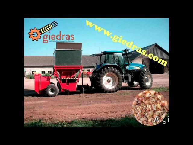 Crimper mill giedras 1400 CB with a bagger www.giedras.com info @giedras.com