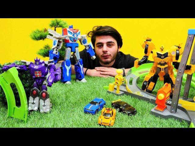 Transformers araba yarışı Bumble Bee ve Optimus Prime!