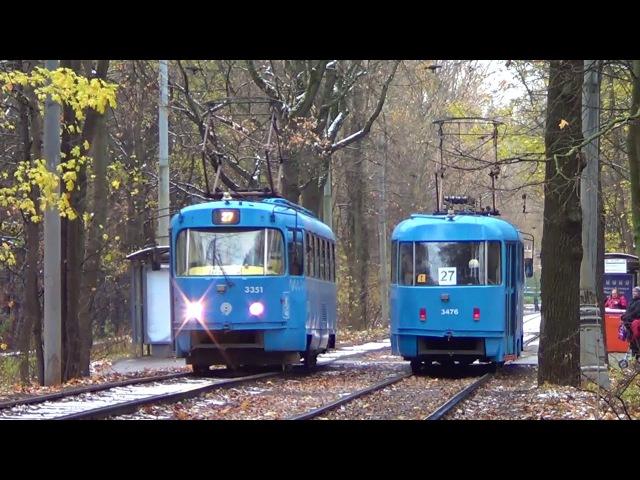 Встреча одинаковых трамваев МТТА Московский Транспорт