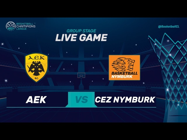 LIVE🔴 - AEK v CEZ Nymburk - RD. of 16 - Basketball Champions League 2017-18 (Geo-Blocks Apply)