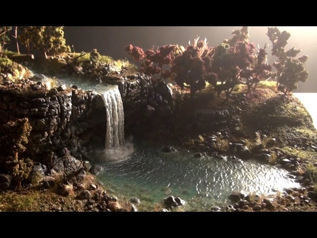 Waterfall diorama Christian message!