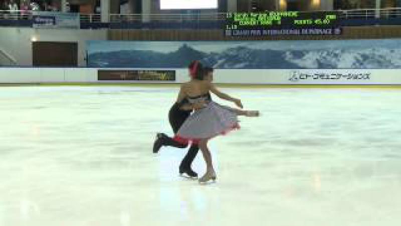 ISU 2014 Jr Grand Prix Courchevel Free Dance Sarah Marine ROUFFANCHE / Geoffrey BRISSAUD FRA