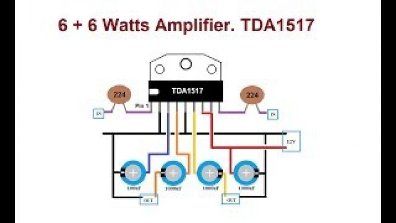 TDA1517 6W 6W Amplifier. Great Amp under $4.