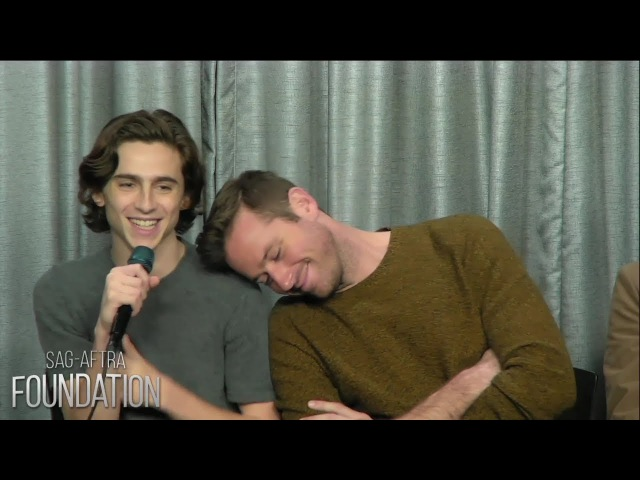 Armie Hammer Timothée Chalamet cute moments (Part 4)