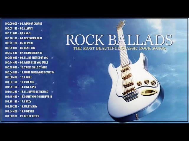 Best Rock Ballads 70's 80's 90's | The Greatest Rock Ballads Of All Time