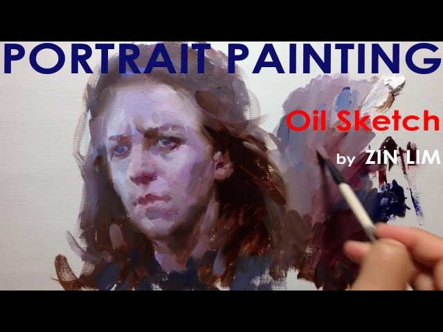 Oil Sketch for Portrait Painting 2 Cool Light