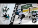 Dallas Stars vs San Jose Sharks Feb 18 2018 Game Highlights NHL 2017 18 Обзор