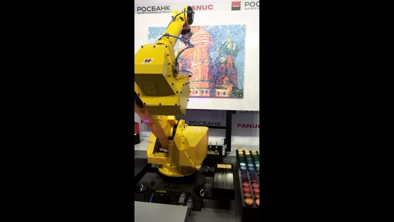 Робот-импрессионист. Иннопром 2017