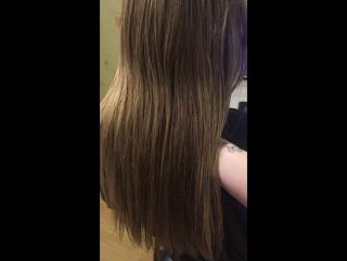 До кератина - тусклые и сеченные волосы (