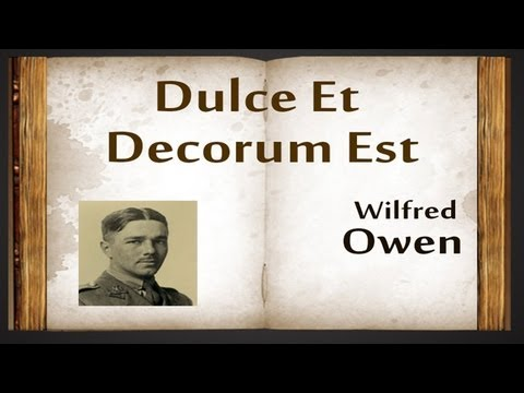 an analysis of the works of wilfred owen