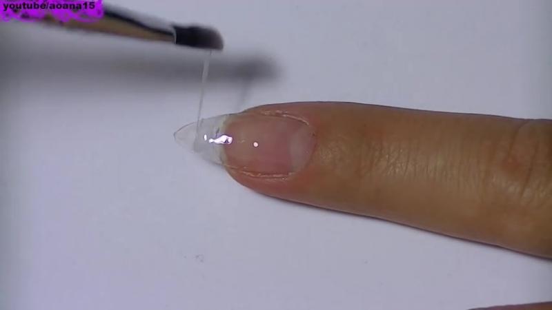 Наращивание ногтей гелем. Как наращивать ногти. Гелевое наращивание ногтей.