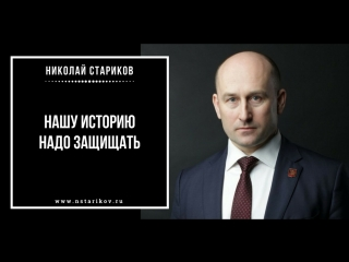 Николай Стариков: Нашу историю надо защищать