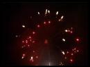 195、五寸柱型银旋花入红拉手环 5 inch cylindrical silver spinner flower to red crossette ring