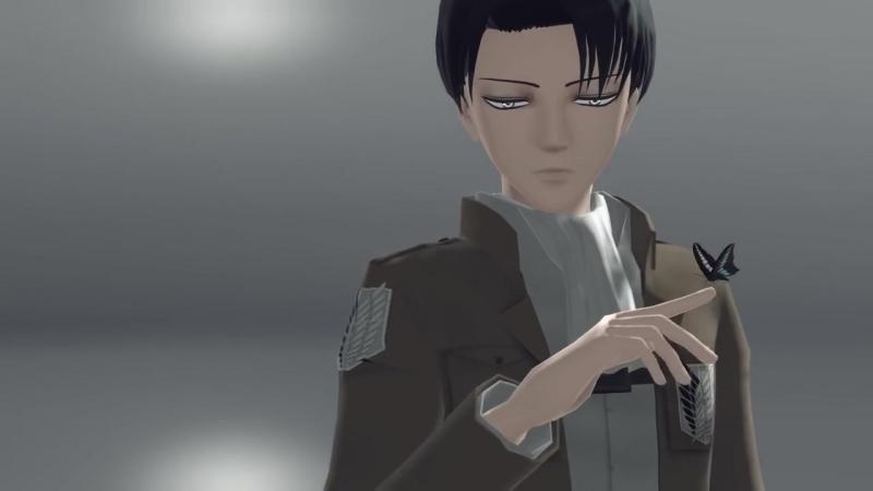 【進撃のMMD】(Erwin-Levi-Hange) アイ(eng sub)【幹部組】
