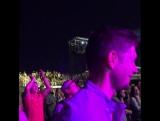 Дженсен и Дэннил на концерте Стиви Уандера