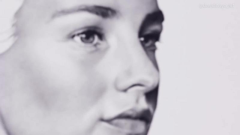 Портрет за 300 часов с 3 миллионами нарисованных точек от руки