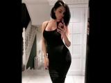 Emma Glover in black