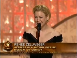Renee Zellweger Wins Best Actress Motion Picture Musical Or Comedy - Golden Globes (2003)