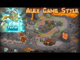 Kingdom Rush HD (Bonus Premium Level 25 Pit of Fire) Iron Challenge Hero - Thor