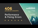 After Effects Expressions 406 - Performance Fixing Errors