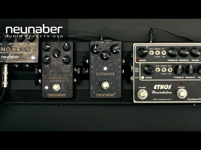 Neunaber Expanse '80s Guitar Tones: Tri-Chorus Reverb/Echo Demo with Immerse Iconoclast