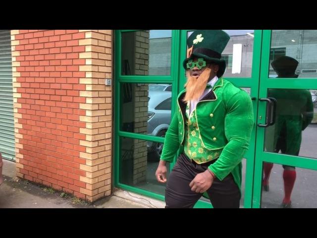 "Blessing awodibu on Instagram ""Beast Leprechaun 🍀 and his pot of gold 😂😂 stpatricksday leprechaun rainbow potofgold beastmode protein padd..."
