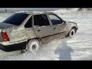 Зимний дрифт Opel Kadett опель кадет на снегу как танк
