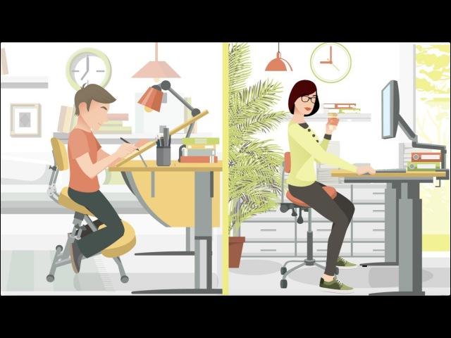 Смартстул ортопедические коленные стулья и стулья седла Smartstool